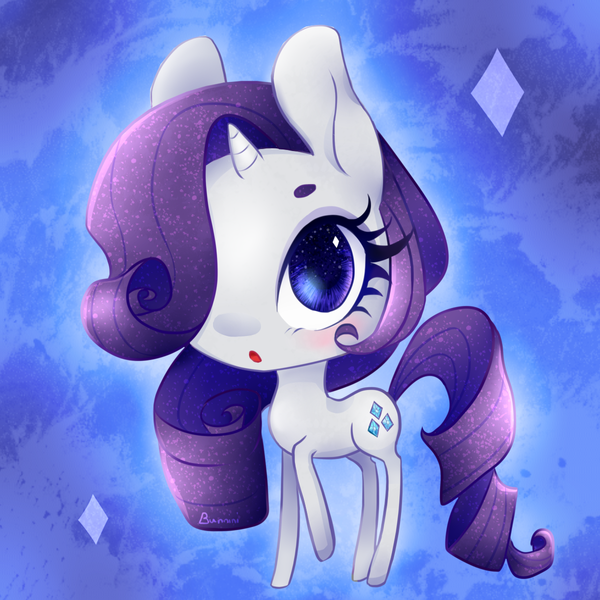 Rarity Chibi by BunniniArt