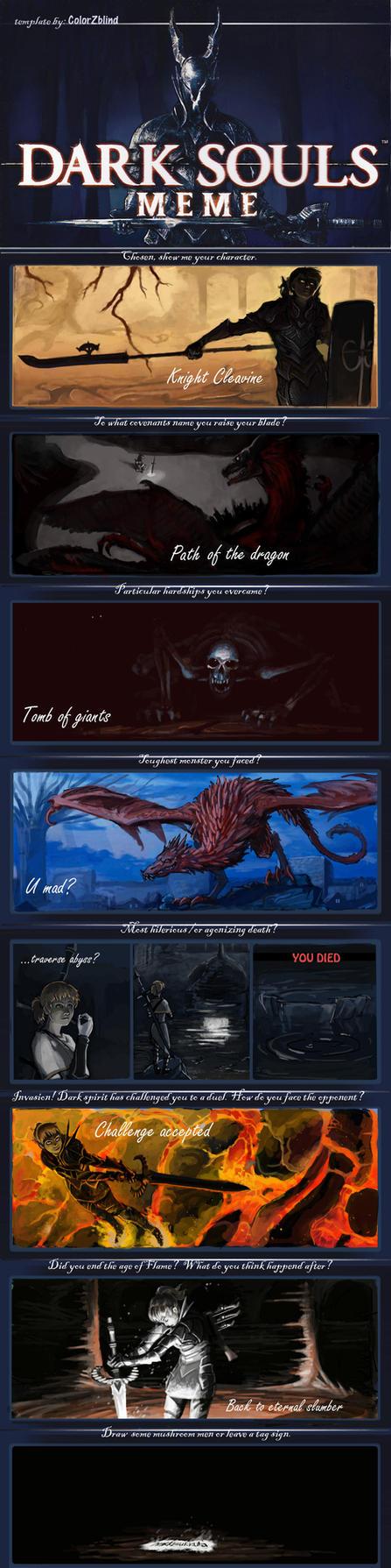 dark souls meme  spoilers  by colorzblind on deviantart