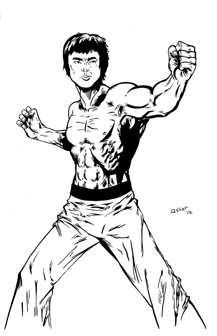 holiday coloring pages elvis coloring pages bruce lee inks by pycca on deviantart