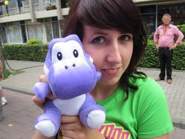 Yoshi with girlfriend