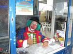 Fun fair clown