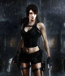 Tifa meets Lara by Vynthallas