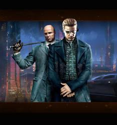 Wesker meets Sherlock by Vynthallas
