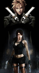Cloud and Tifa by Vynthallas