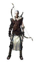 Male Elven Archer by Vynthallas
