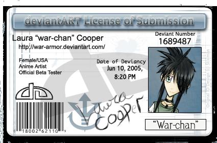 my DeviantART license by war-armor