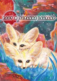 Fennec Fox ACEO by silentlily