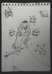 Rosalina and the mushroom-planet by Furawa-sama