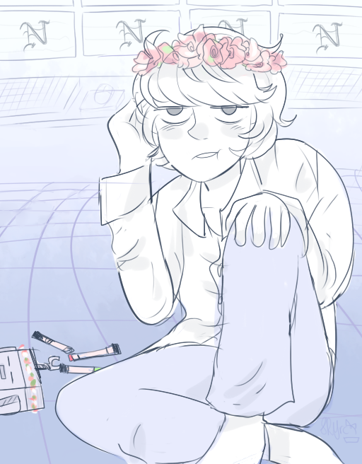 Near And The Flower Crown By Sky Ribbons On Deviantart