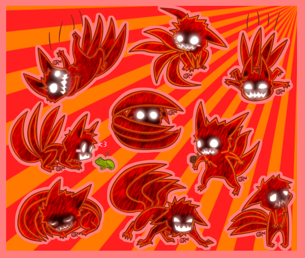 Tailed Beasts Wallpapers: 4-Tails Chibis By FancyPancakes On DeviantArt