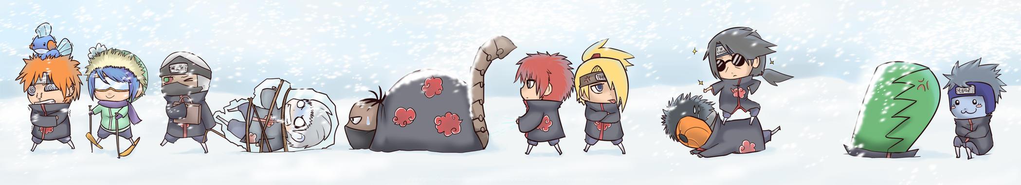 Akatsuki Winter Fun by FancyPancakes