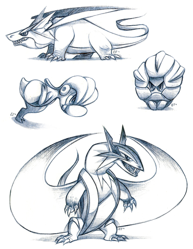 Salamence sketches by FancyPancakes on DeviantArt