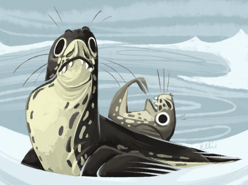 Sea leopards by FancyPancakes
