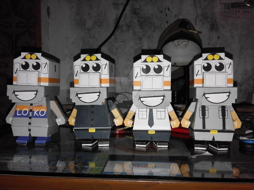 papercraft Si Loko PT KAI  by muslimirfan