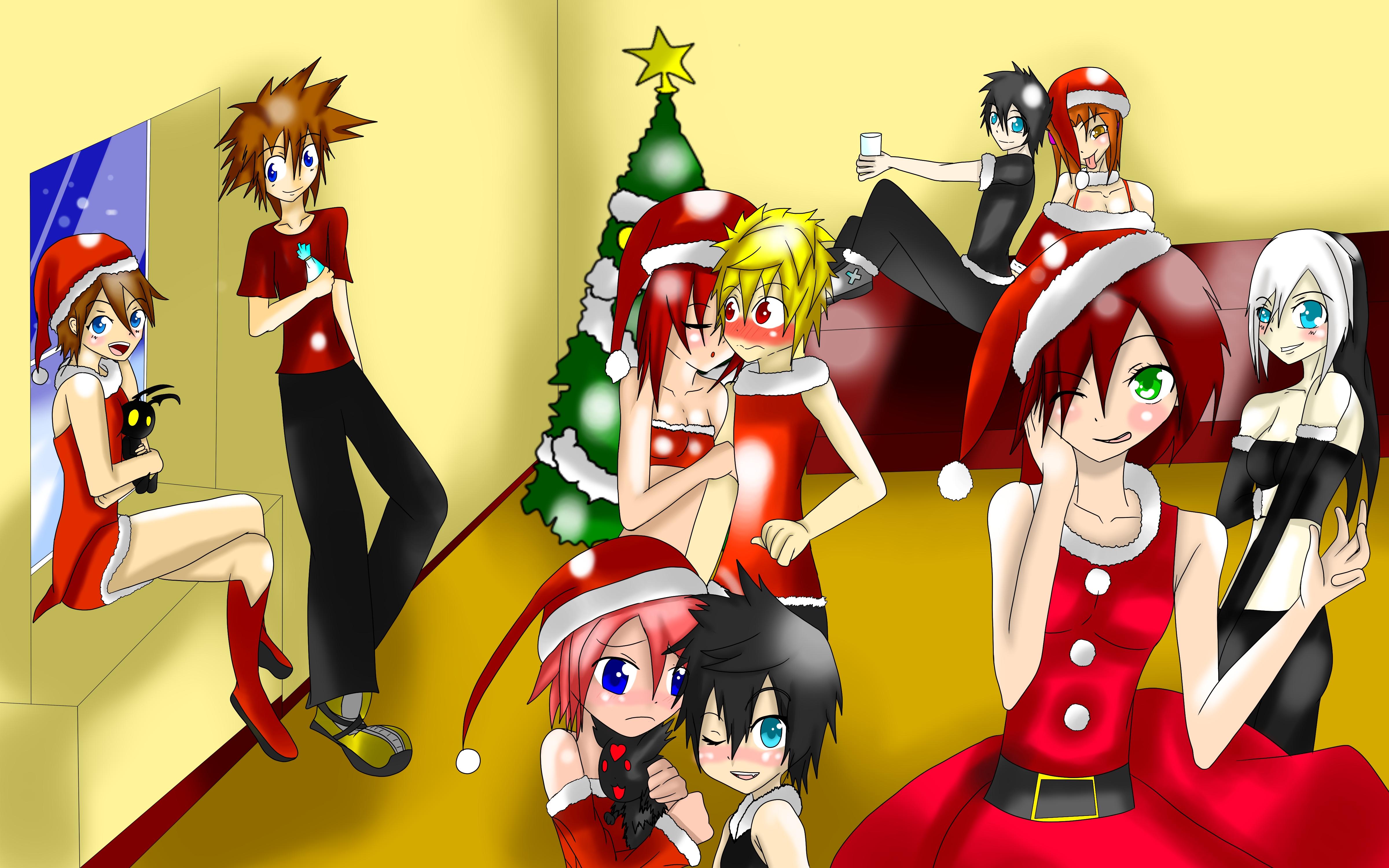 Kingdom Hearts Christmas.Kingdom Hearts Merry Christmas Special Event By Olightsword