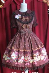 Infanta Sweet Cream Cat Lolita JSK Dress 3 Col by Dresscodemadness