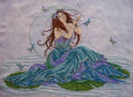 Water Goddess Cross Stitch