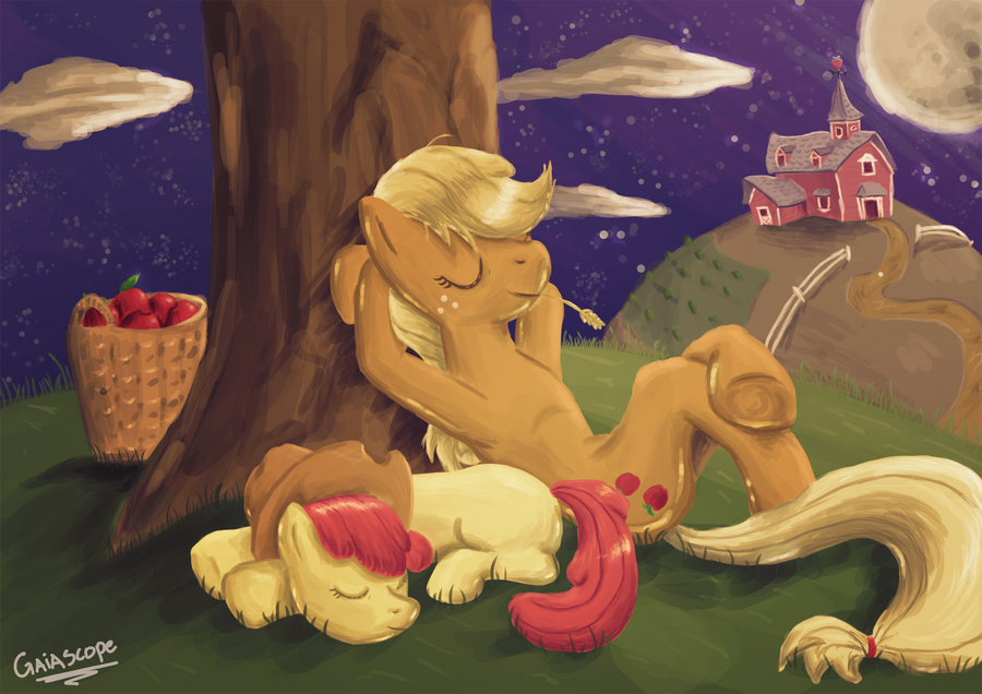 Good Night Applejack by Gaiascope