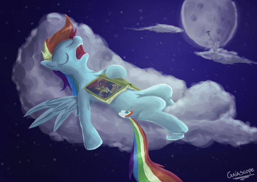 Good Night Rainbow Dash by Gaiascope