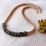 golden bead necklace by encado
