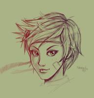 Sakura Sketch by Nerkin