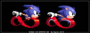 Sonic CD Sprite HD by Nerkin