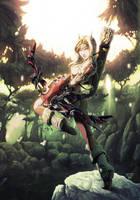 Blood Elf Hunter by Nerkin