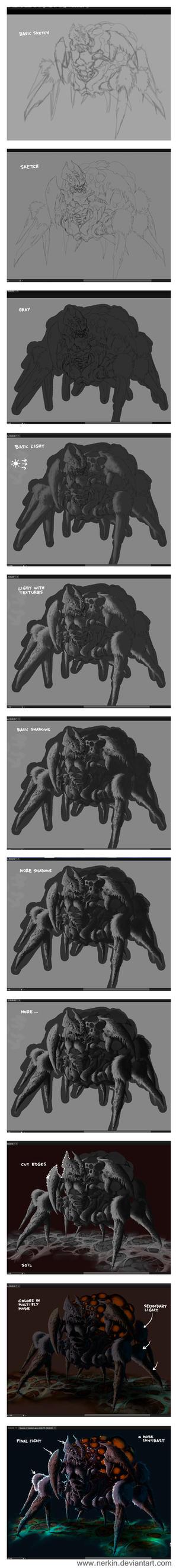 Queen of Spiders Progress by Nerkin