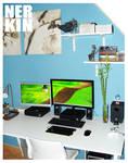My new desk by Nerkin