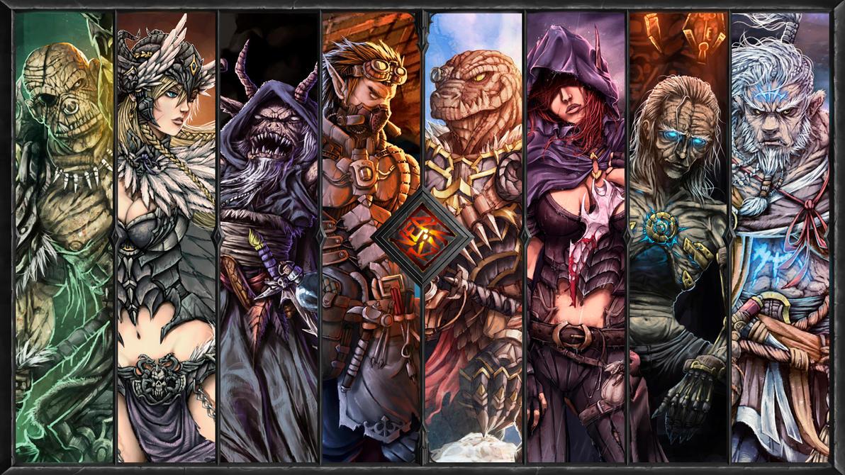 2014 fantasy works wallpaper by Nerkin