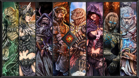 2014 fantasy works wallpaper by Nerkin