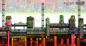 Chemical Plant background concept