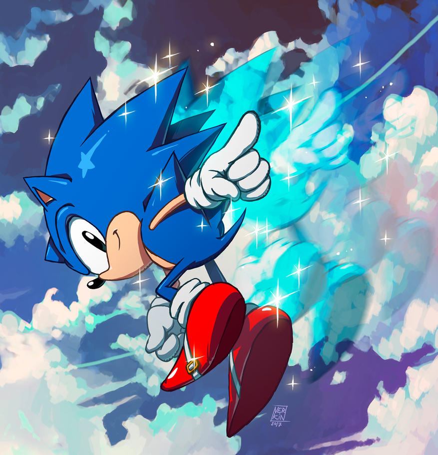 Deviantart Drawings: Classic Sonic In Action! By Nerkin On DeviantArt