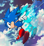 Classic Sonic in action!