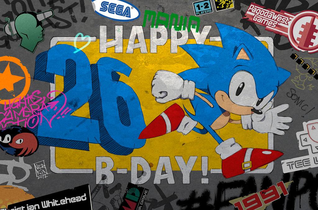 Happy B-Day Sonic! by Nerkin