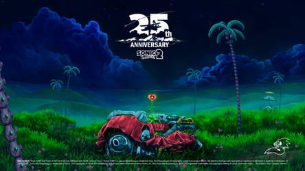 25th anniversary of Sonic 2 by Nerkin