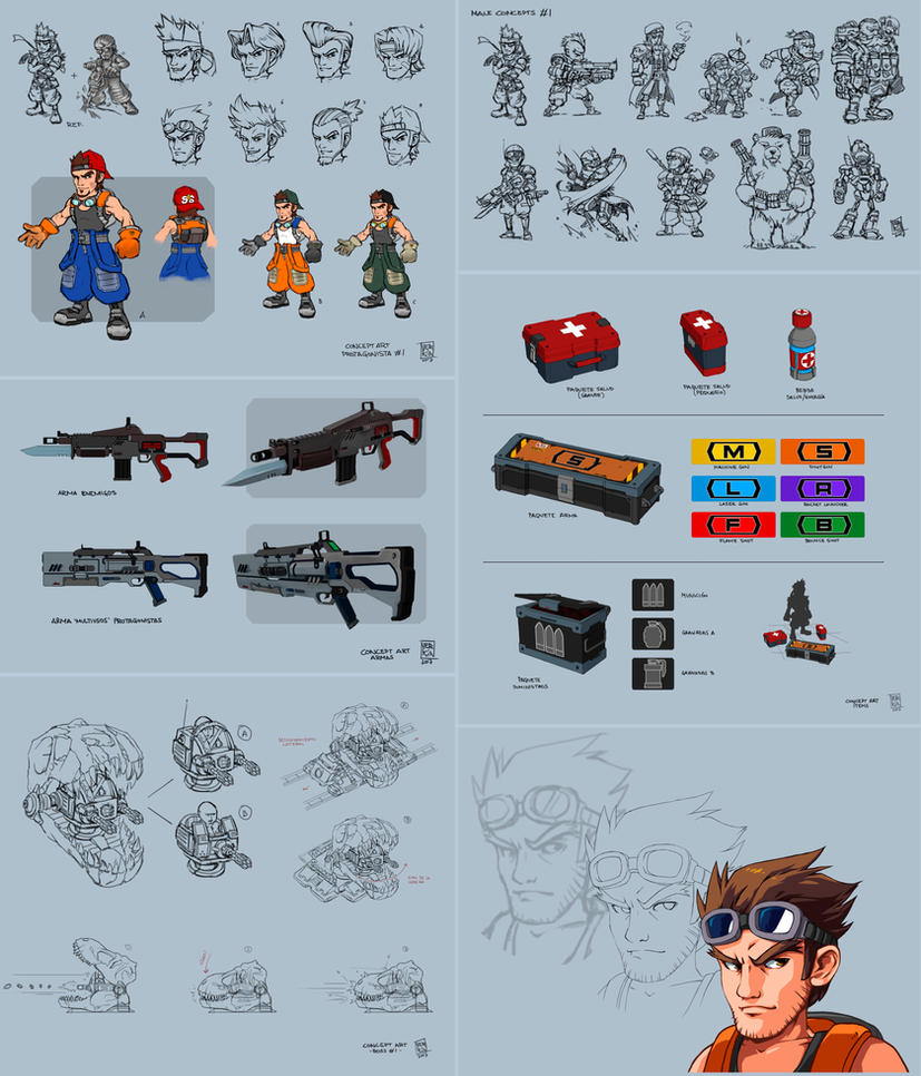 Run and Gun game concepts by Nerkin