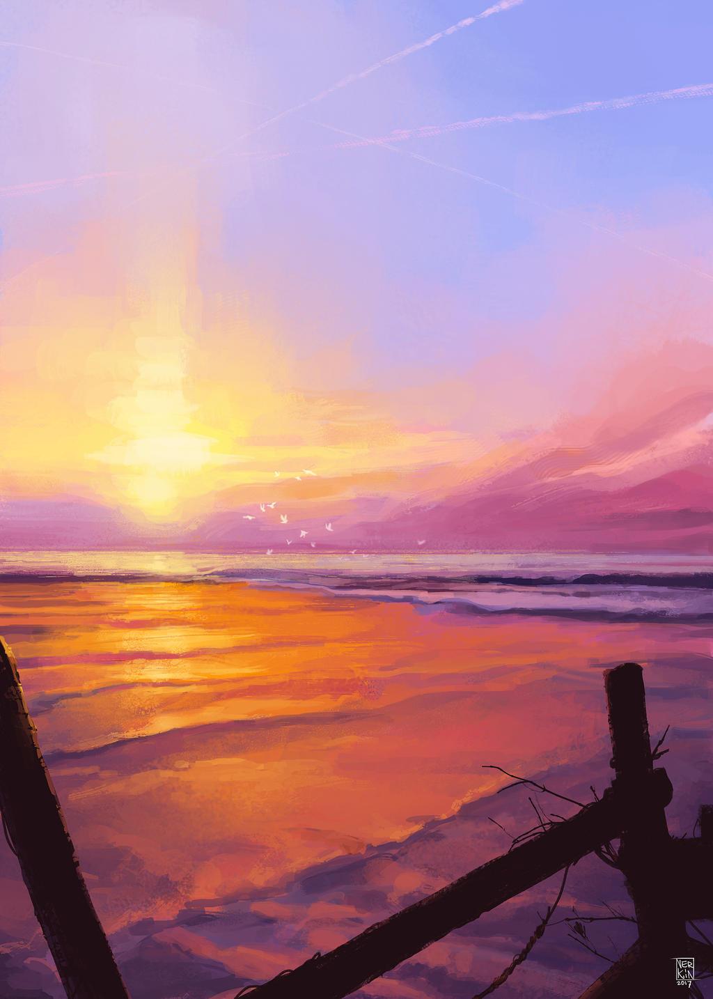 Beach by Nerkin