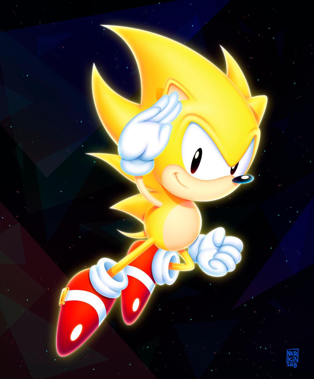 Super Sonic By Nerkin On Deviantart