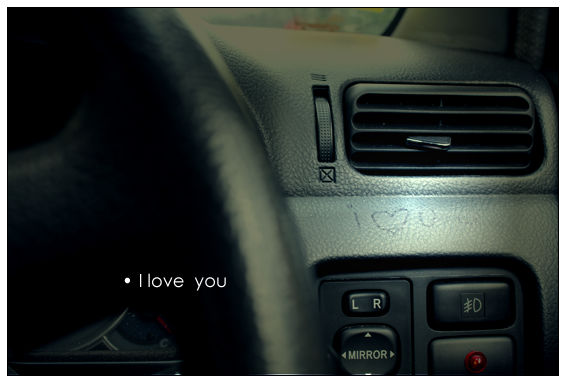 I love you you you and you