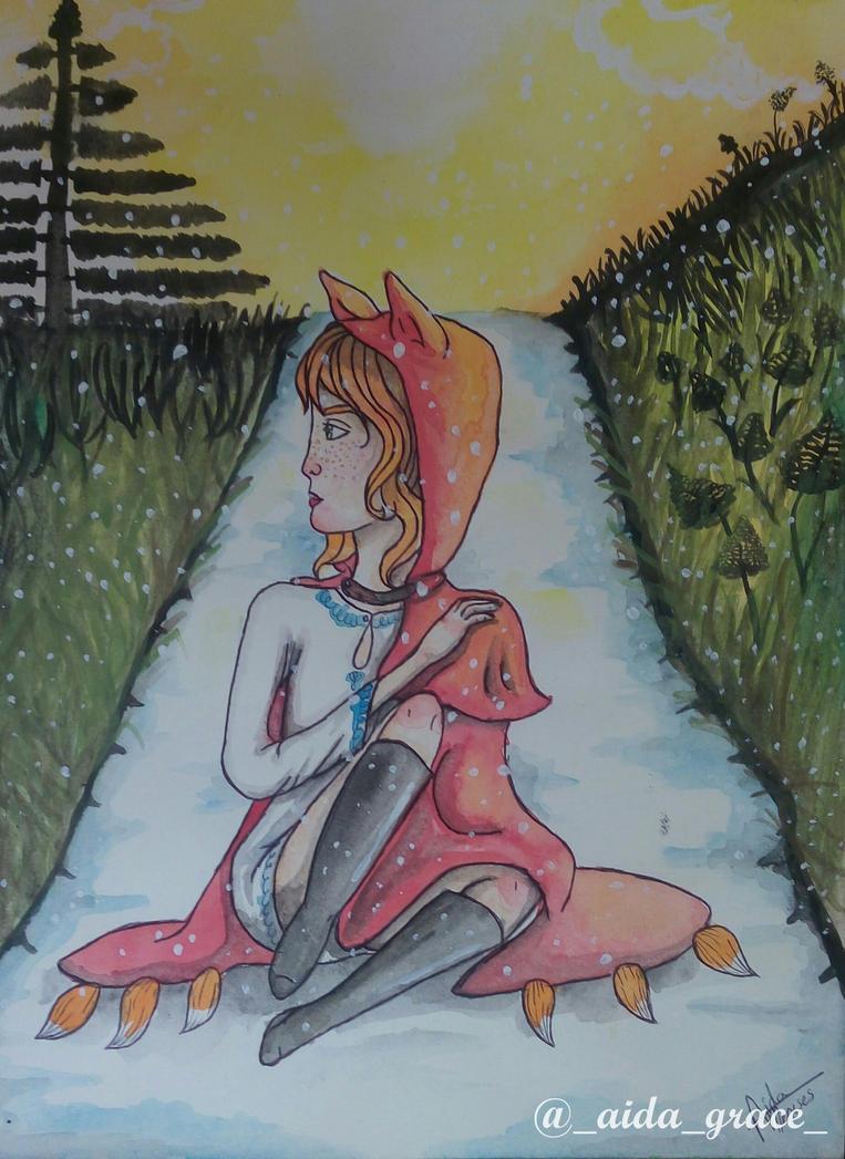Lady fox by AidaGrace