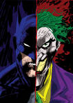 The Batman and Joker colored