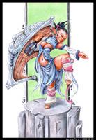 Elven Shield Dancer by Dillerkind
