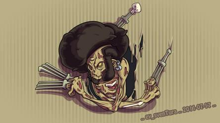 The Afro Ninja Zombie... HARRR by Dillerkind