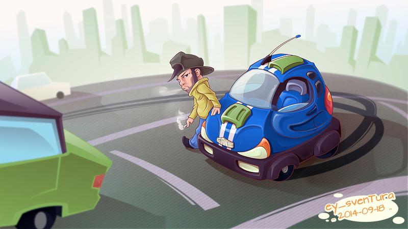 Inkscape Motor Cars by Dillerkind