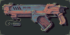 Gun 009 PIXEL by Dillerkind