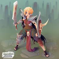 Blade Girl 6 by Dillerkind
