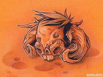 Bonehead 15 INK+PENCIL by Dillerkind