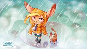 Hoodie in the Rain