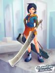 Blade Girl 13 by Dillerkind